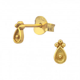 Antique Gold - Ohrstecker 14k vergoldet