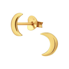 Gold Moon - Ohrstecker Sterlingsilber,  14k vergoldet