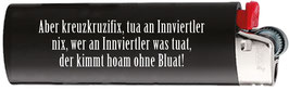 "Feuerzeug BIC schwarz ""Kreuzkruzefix"""