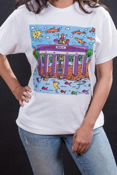 T-Shirt : Brandenburger Tor - Fluss des Lebens