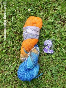 selbstgefärbte Sockenwolle  Aktiv FINE Cotton