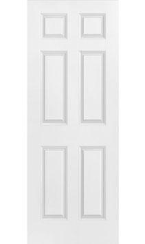 """30"""" x 80"""" Prehung 6-Panel Textured Interior Door"""