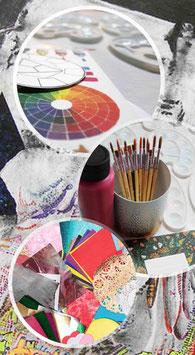 Kunstwerkstatt Mixed Media im September