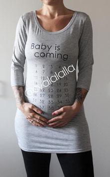 Baby is coming T-shirt - Das Original! Longshirt