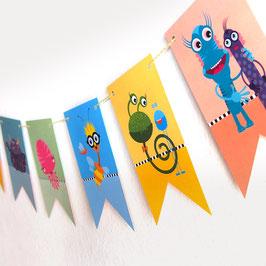 Papier-Girlande als Deko für die Kindergeburtstagsparty