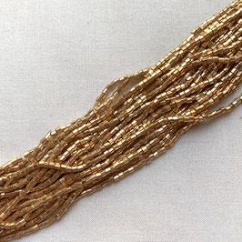 10-010)NEW BEADS (Light Mat GOLD 6CUT 1×1.5 )  CB026