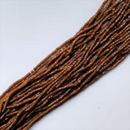 11-006)NEW BEADS (SATIN CHOCOLATE 6CUT 2×2)   DB039