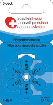 Hörgerätebatterien P675