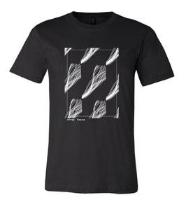 Sleeper Strip Art Screen Print T-Shirt (black)
