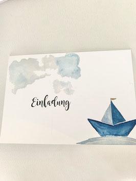 Einladungskart Maritim