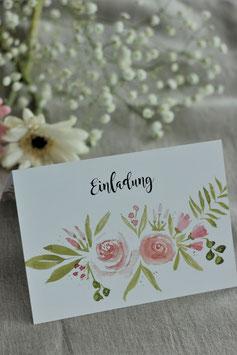 Einladungskarte Floral