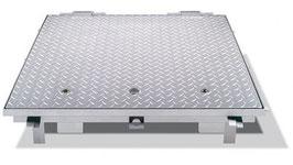 Preisanfrage für Schachtabdeckung mit Hebehilfe befahrbar 125 kN mit Riffelblechdeckel gem. Auswahl unten