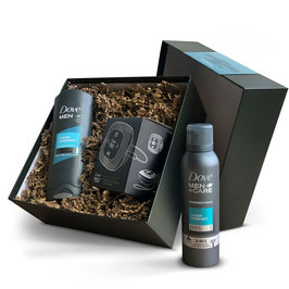 Coffret Dove Men + care + enceinte de douche