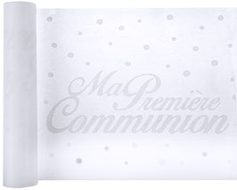 Chemin de table Ma 1 ère communion blanc 30 cmx 5 m