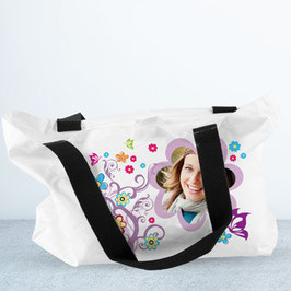 Sac cabas blanc impression double face