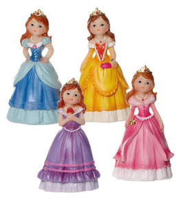 4 Petites figurines princesses assortiment