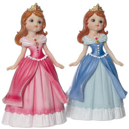 2 grandes Figurines princesses rose et bleu