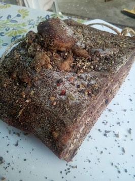 Pancetta tesa con pepe nero e finocchietto selvatico gr 250/350 circa