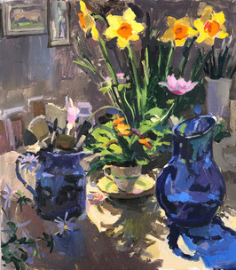 Daffodils in the studio