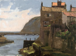 Shadows and rooftops, Staithes
