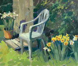 Chair by the garden shed