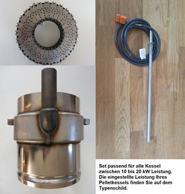 Verschleißteile-Set - Easyfire1 10-20 kW (Multisegmentbrennteller, Flammrohr & Glühstab)