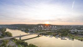 Koblenz Metternich im Sonnenuntergang