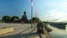 Deutsches Eck mit der Festung Ehrenbreitstein