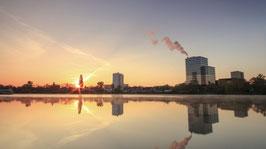 Sonnenaufgang am Moselufer