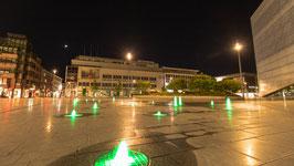 Koblenzer Zentralplatz bei Nacht