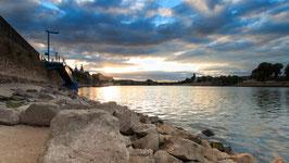 Sonnenuntergang an der Mosel beim Deutschen Eck