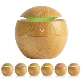 Diffuseur d'huiles essentielles en bois.