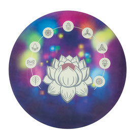 "Tapis de yoga rond thème ""Mandala Fleur de Lotus"""