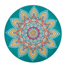 "Tapis rond de méditation thème ""Mandala""."