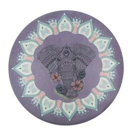"Tapis rond de méditation thème ""Mandala"""