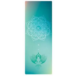 "Tapis de yoga rectangulaire thème ""Méditation Mandala"""