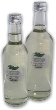 Sirup 3.5dl/5dl/7dl Zitronenmelisse, Goldmelisse, Lindenblüten, Holunderblüten, Rhabarber,Johannisbeere, Brombeere-Sirup in Glasflasche