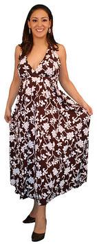 TM Maternity Dress - Brown-White