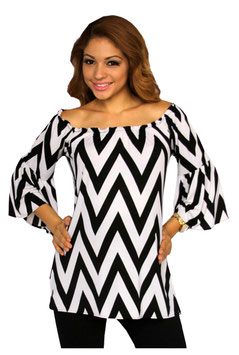 TM Maternity Top Model 4268 - Black & White