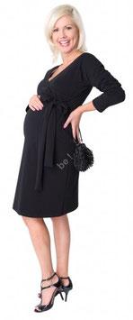 "be mama! Maternity Dress ""Cherry"" - Black"