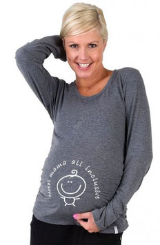 be mama! Maternity Blouse Hotel Mama - Dark Grey