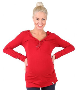 "be mama! Maternity Hoodie ""Iman"" - Red"