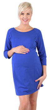 "be mama! Maternity Tunic ""Mona"" - Blue"