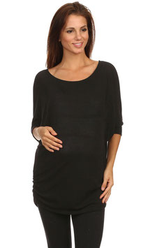J-Mode Maternity Tunic Model T5711SO Black