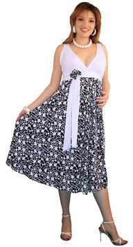 TM Maternity Dress - Black-White
