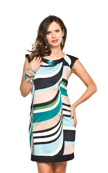 "Torelle Maternity Dress ""Vanessa""- Turquoise-Black-White"