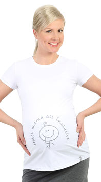 "be! Maternity Top ""Hotel Mama"" White"