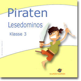 Piraten - Lesedominos (Textebene)