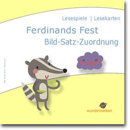 Ferdinands Fest: Lesekarten für die Bild-Satz-Zuordnung