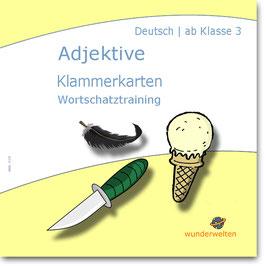 Adjektive Klasse 3-4 - Klammerkarten